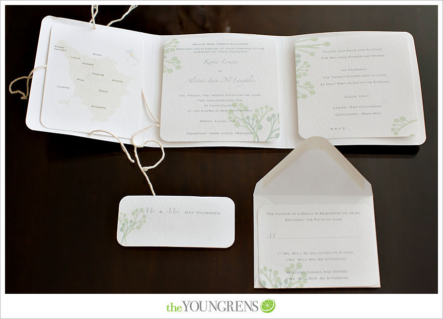 Inspired by Our Brides Italy Destination Wedding Invitations The