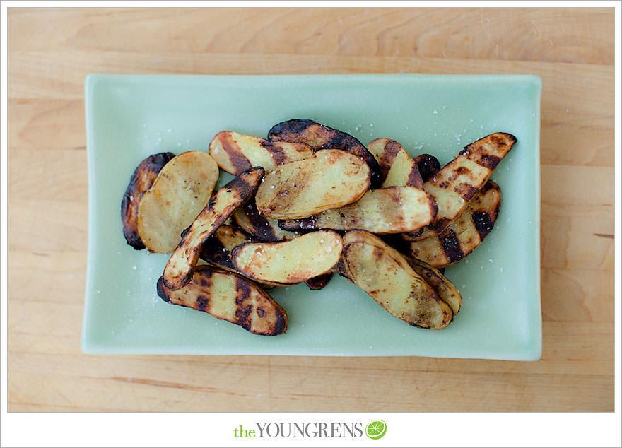 Grilled Salt and Vinegar Potato Slices, grilled potato recipe, salt ...