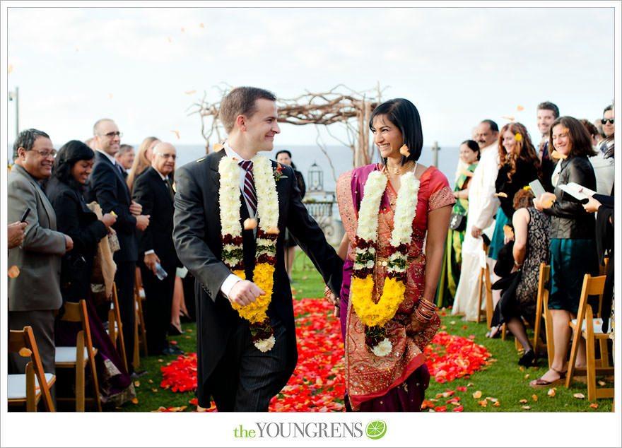 Indian wedding, San Diego Indian wedding, Hindu wedding, Del Mar Wedding, L'Auberge Del Mar wedding, Seagrove Park ceremony, multi-cultural wedding, red wedding, seafoam wedding, seaside wedding, beach wedding