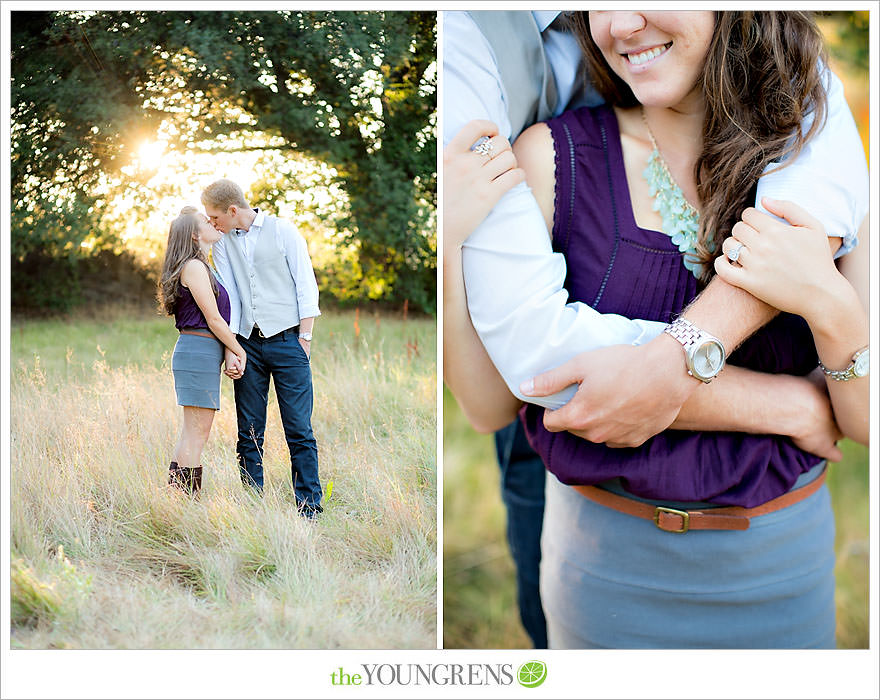 Julian engagement session, country engagement session, summer engagement session, fall engagement session, mountain engagement session, rustic engagement session, field engagement session, oak tree engagement session, meadow engagement session, San Diego county engagement session