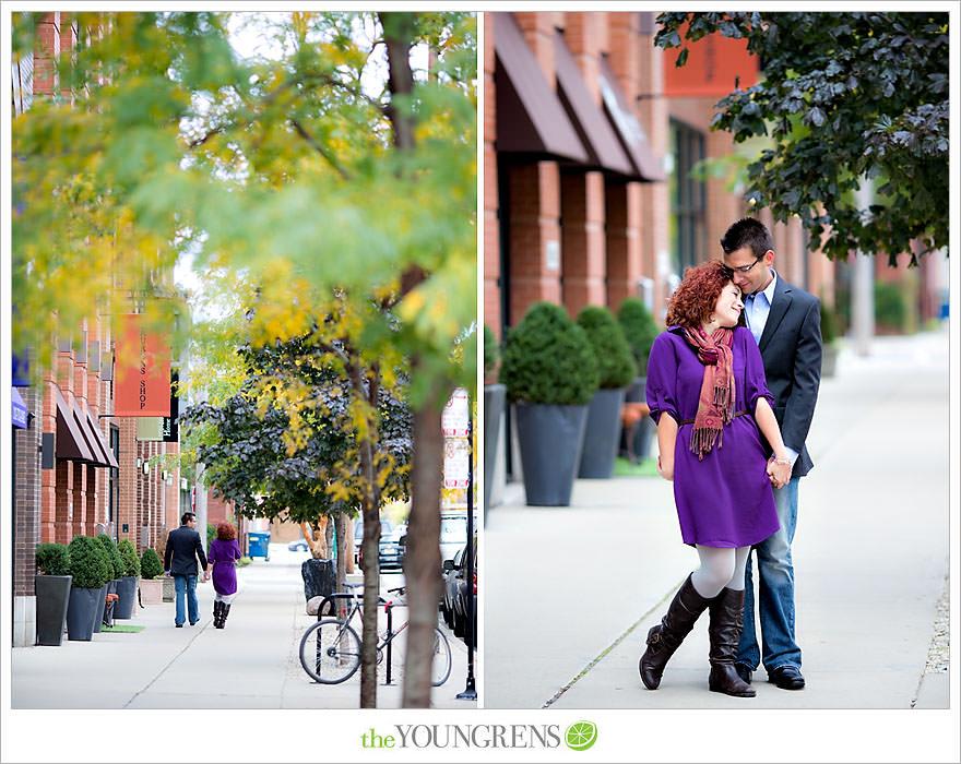 Chicago portrait session, urban portrait session, city portrait session, fall portrait session, purple portrait session, Fulton Market portrait session