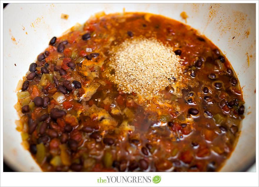 Chili recipe, black bean chili recipe, orange chili recipe, summer chili recipe, chili food photography, Jillian Michael's recipe, Jillian Michael's Ripped in 30 meal plan, Jillian Michael's chili