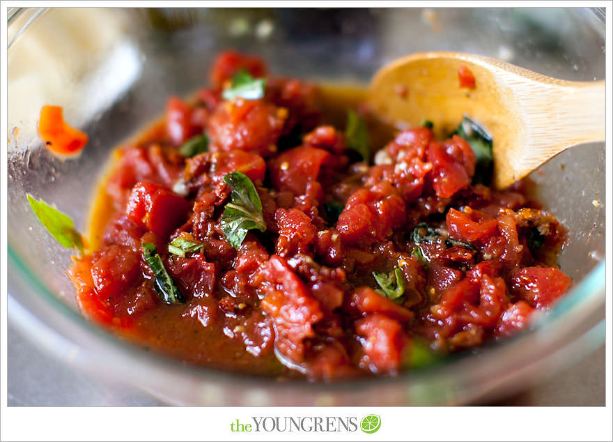 Double Tomato Bruschetta | The Youngrens | San Diego Photographers