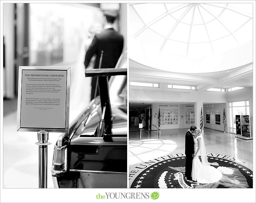 Nixon Library wedding, black and white wedding, political wedding, Nixon wedding, Yorba Linda wedding, East Room wedding, White House wedding, Nixon museum wedding, black tie wedding