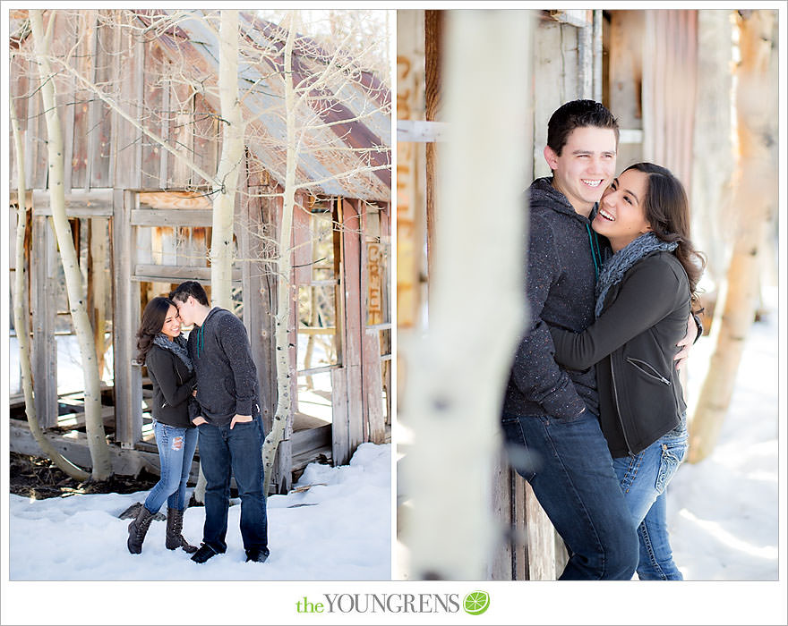 Lake Tahoe engagement session, snow engagement session, winter engagement session, mountain engagement, Northern California engagement, Northstar engagement session