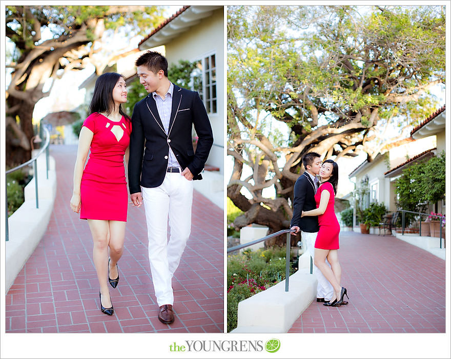Rancho Santa Fe Inn Engagement, Rancho Santa Fe engagement, Inn at Rancho Santa Fe engagement, downtown Rancho Santa Fe engagement, orange grove engagement, orchard engagement, memorial day engagement
