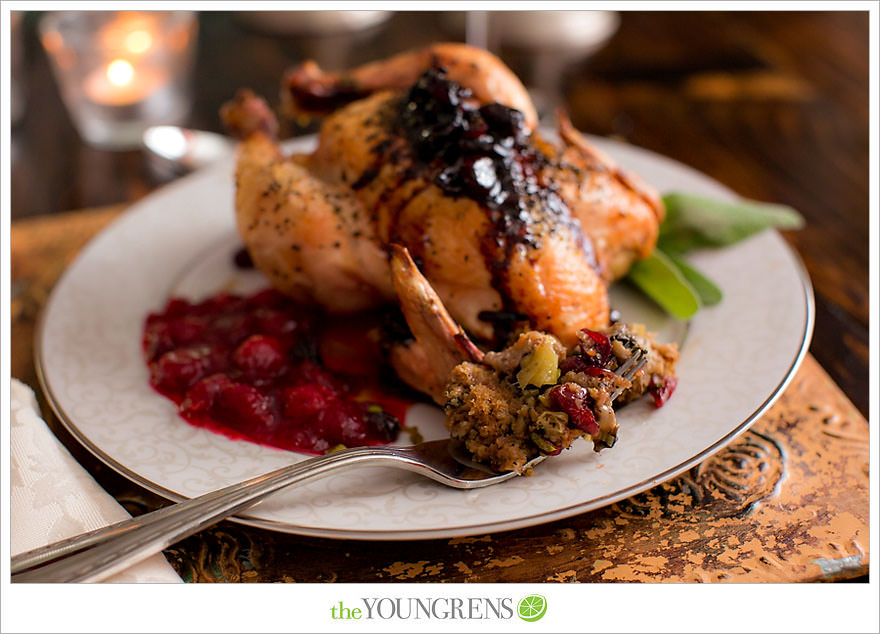 Cranberry Stuffed Cornish Game Hens, game hens recipe, recipe for cornish game hens, Thanksgiving recipe, alternative to turkey, poultry recipe, winter recipe, entrée recipe, cranberry recipe, dried cranberry recipe, stuffing recipe, bird recipe