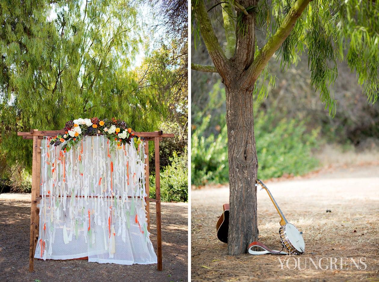 Bommer Canyon Wedding Irvine Rustic Fall Peach