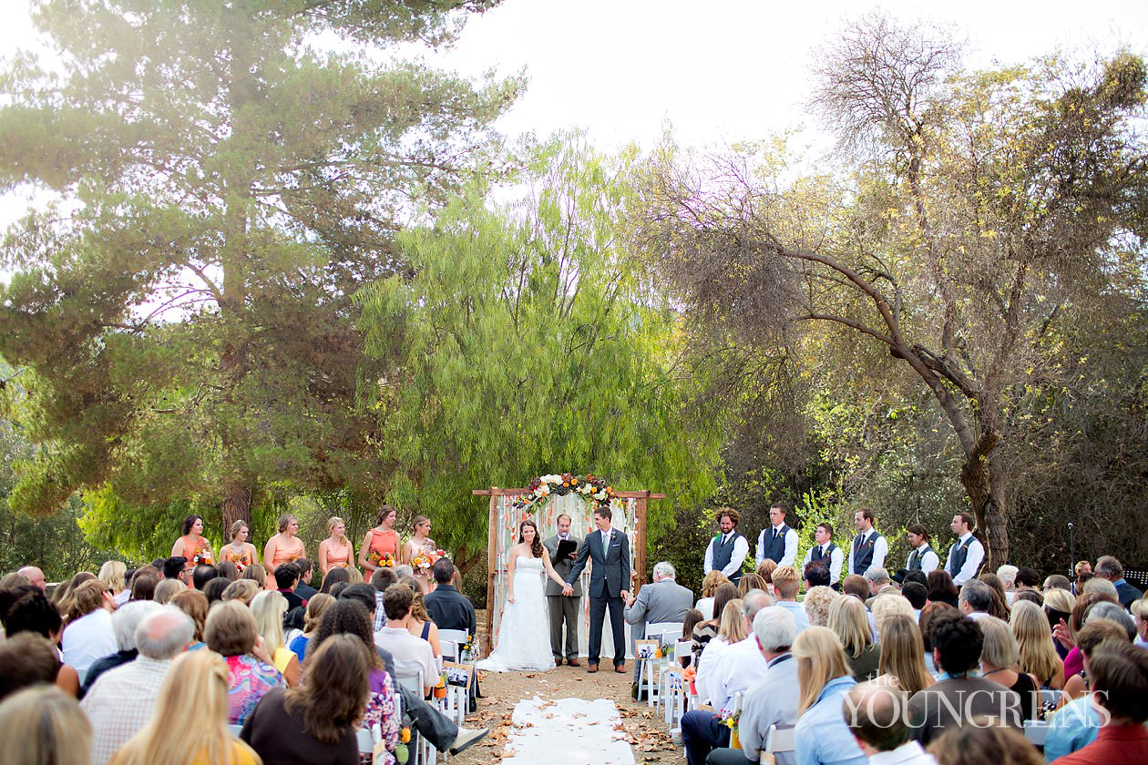 Bommer Canyon Wedding Irvine Rustic Fall Peach