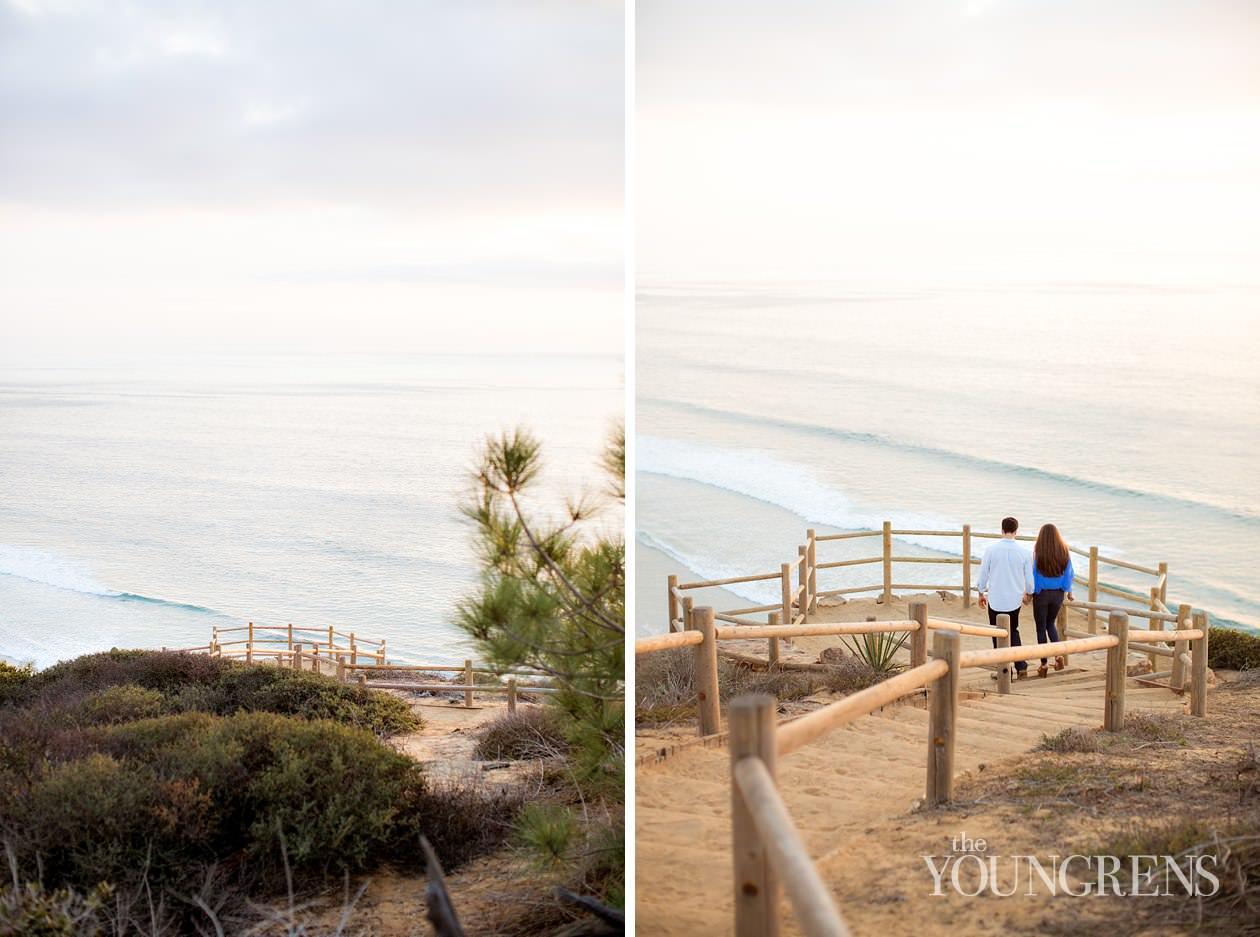 Torrey Pines engagement, san diego engagement, north county engagement, ocean view engagment, cliffs engagement, la jolla engagement