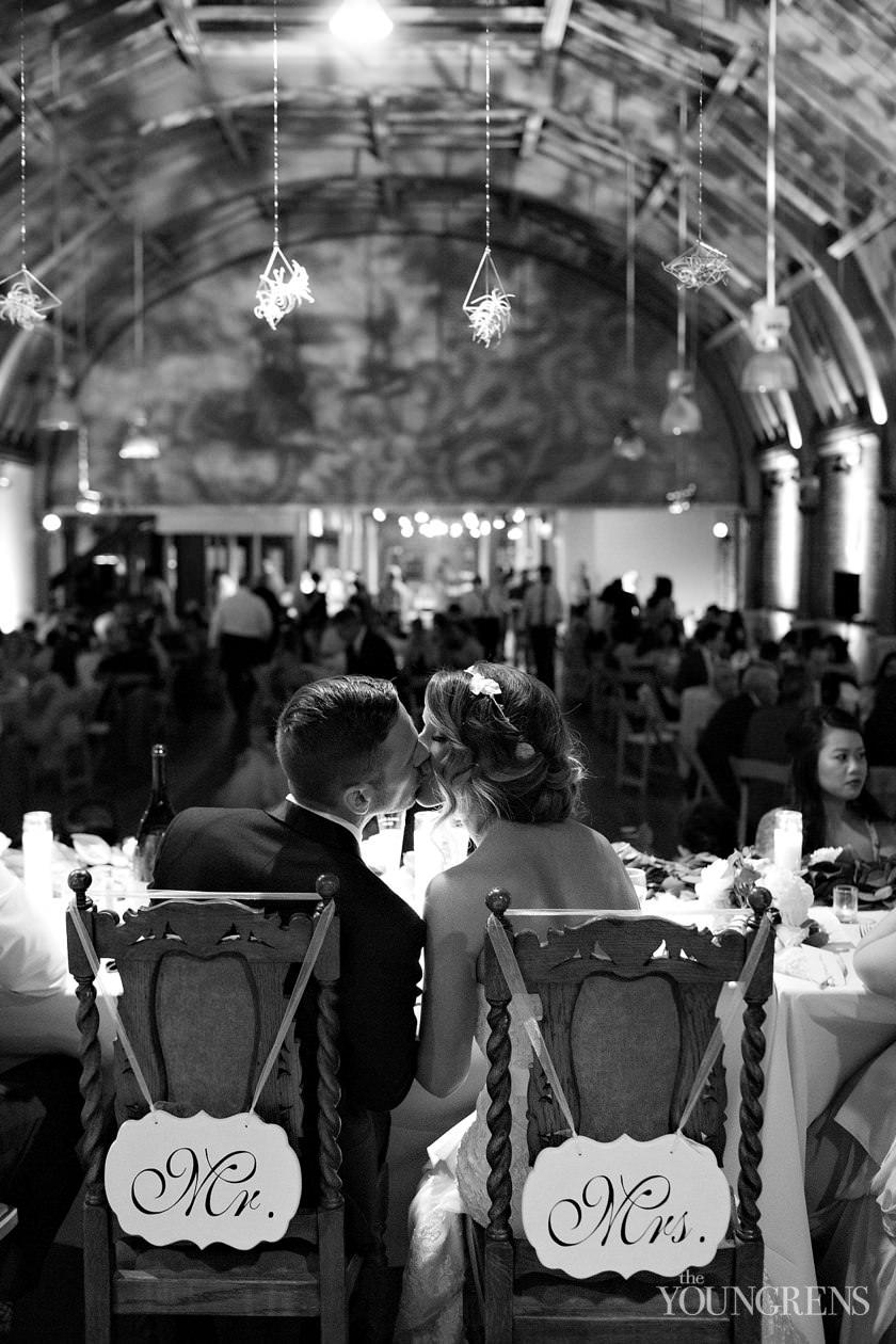 the loft on pine wedding, long beach wedding, theater wedding, indoor wedding, renovated theater wedding, rustic wedding, DIY wedding, pink wedding, old ballroom wedding, film