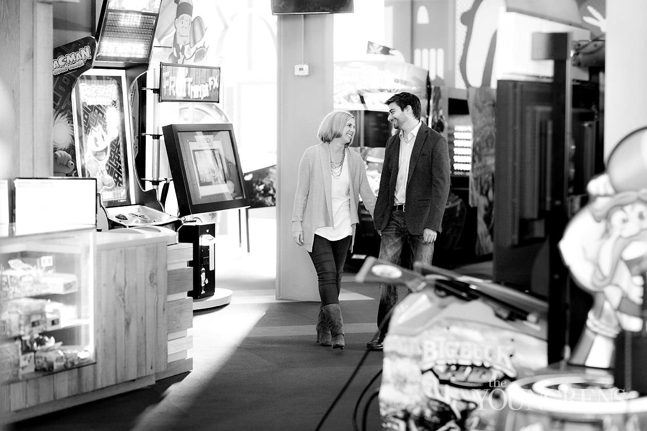 belmont park engagement session, carnival engagement, mission beach engagement session, arcade engagement session, game engagement, ice cream engagement, silly engagement photos, carousel engagement photos, carnival ride engagement session