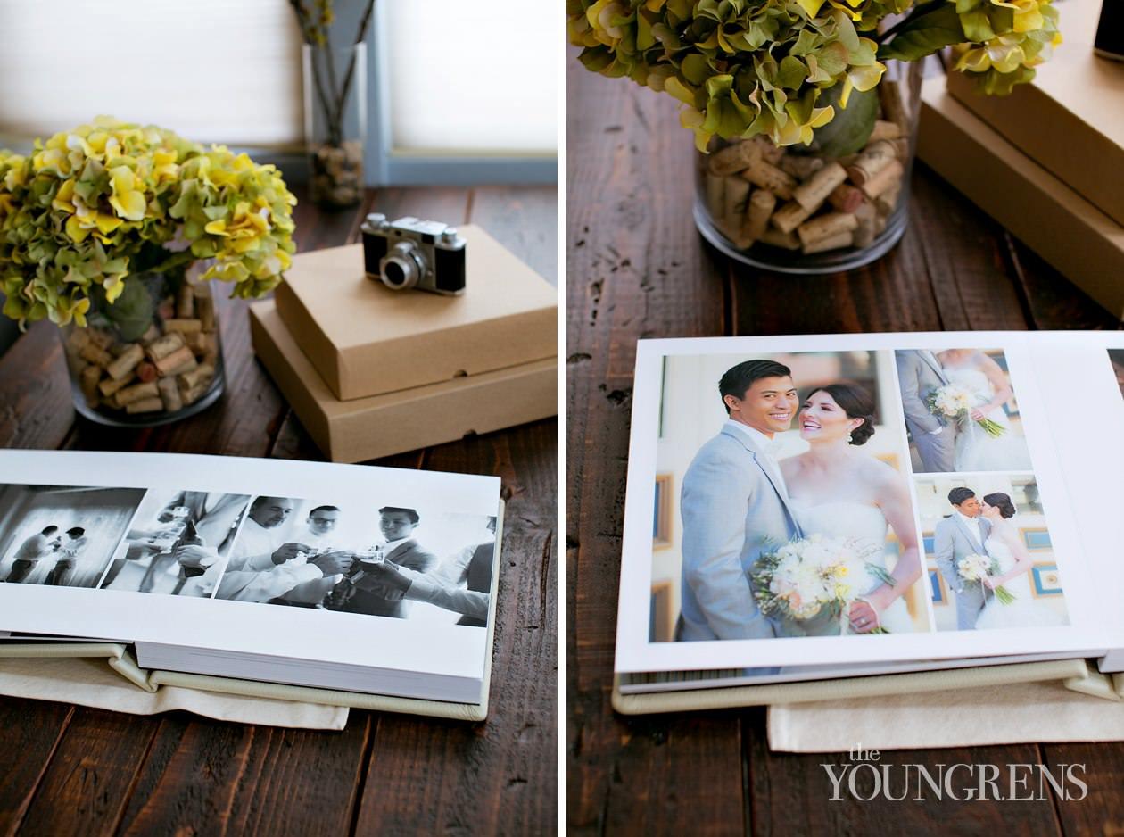 san diego wedding, wedding album, KISS wedding albums, flushmount album, leather wedding album