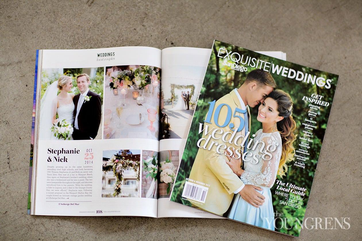 lauberge del mar wedding, exquisite weddings magazine real wedding, wedding magazine feature, seaside wedding, luxury wedding, white lace events, del mar wedding