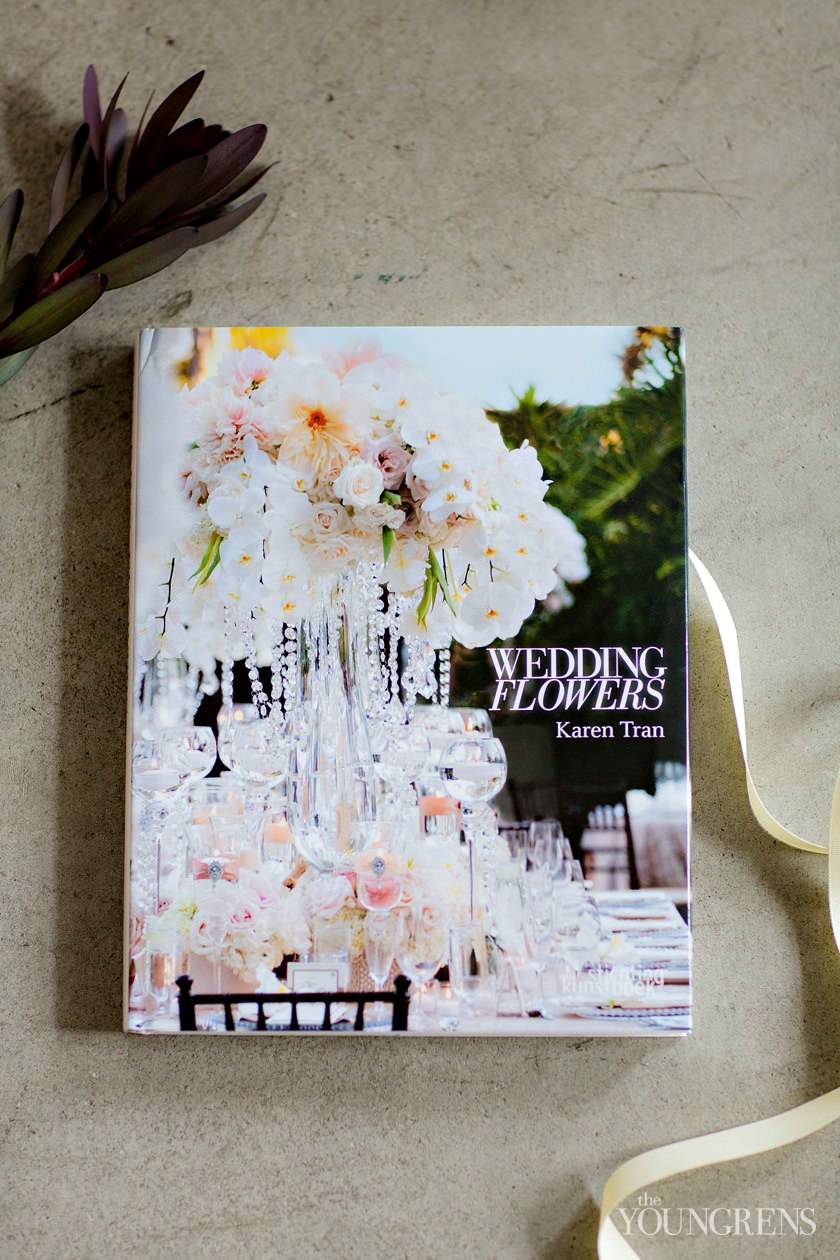 karen tran book, karen tran wedding flowers, karen tran florals, karen tran florist, karen tran feature, l'auberge del mar wedding, purple wedding, orchid wedding, rustic chic wedding, hotel del coronado wedding, tropical florals, beach florals, vibrant florals, pantone color of the year florals
