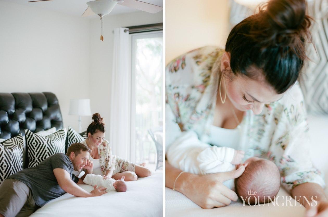 maui newborn session, newborn photos in maui, hawaii newborn session, jane johnson newborn session, jane johnson baby, lifestyle newborn photos, candid newborn photos in hawaii, medium format film, contax 645, Kodak Portra 800 film, 120 film