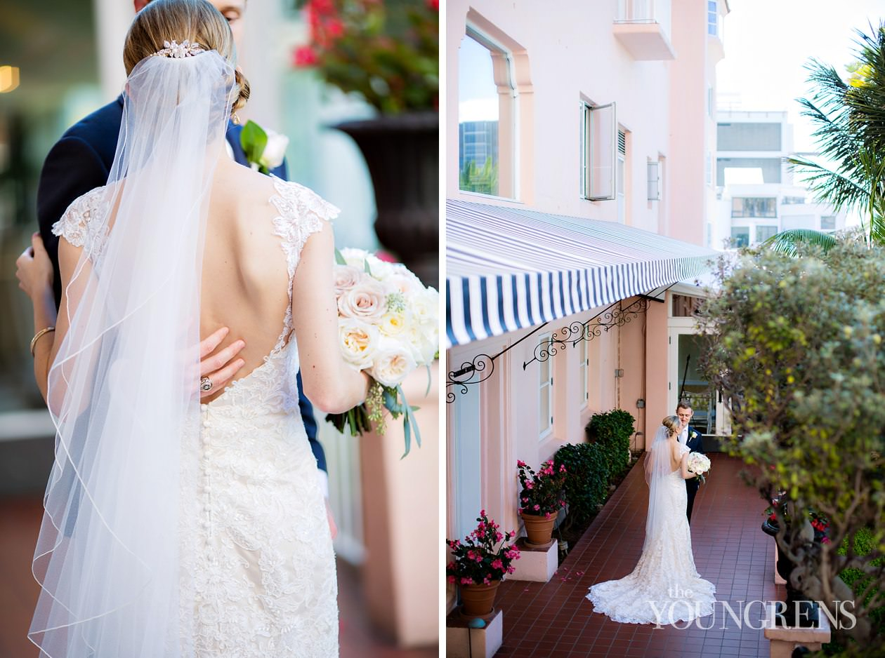 la valencia wedding, la jolla wedding, seaside san diego wedding, san diego resort wedding