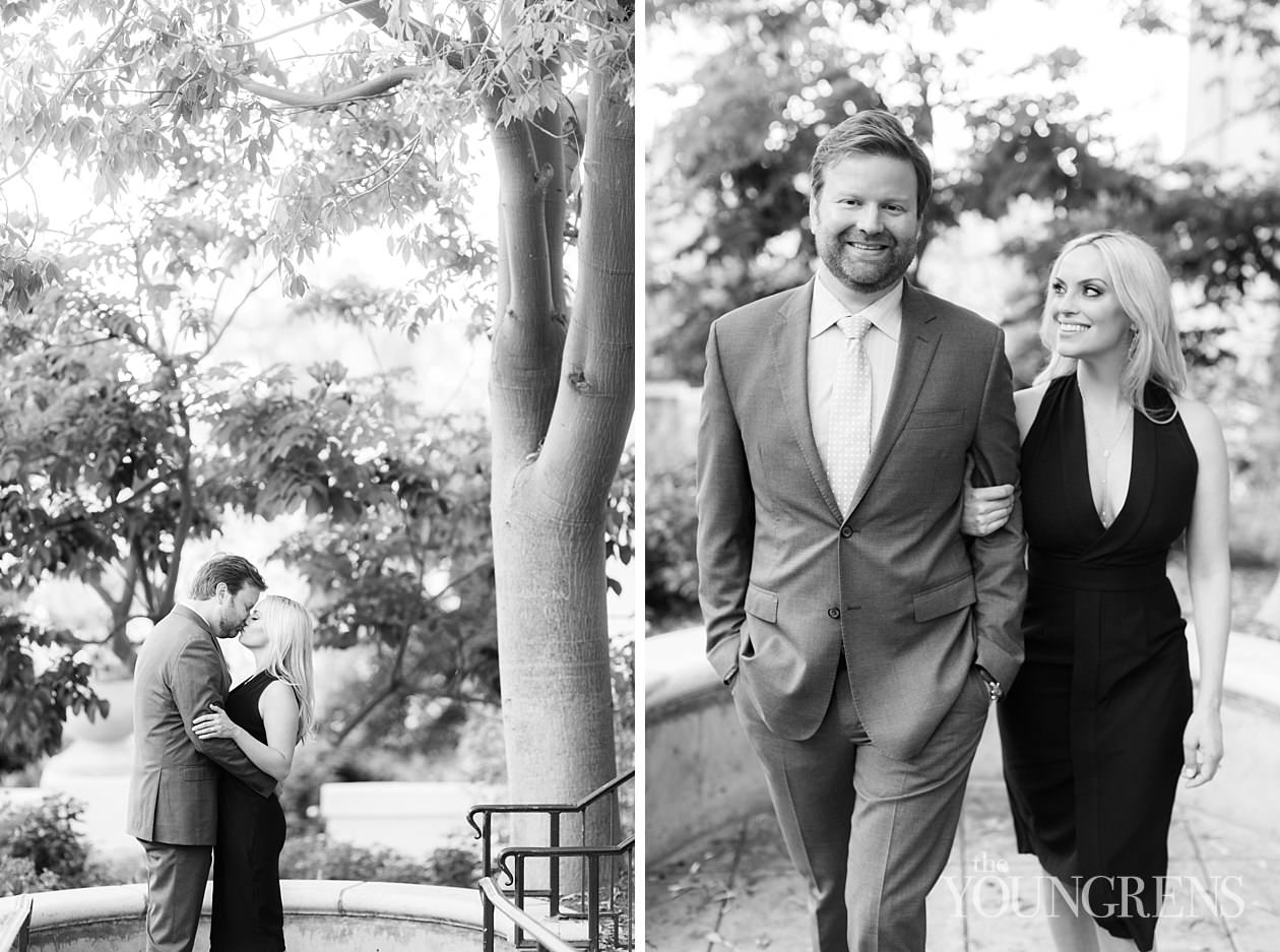 balboa park engagement, san diego engagement, classic san diego engagement session, elegant balboa park engagement, black and white balboa park engagement photos, engagement session at balboa park