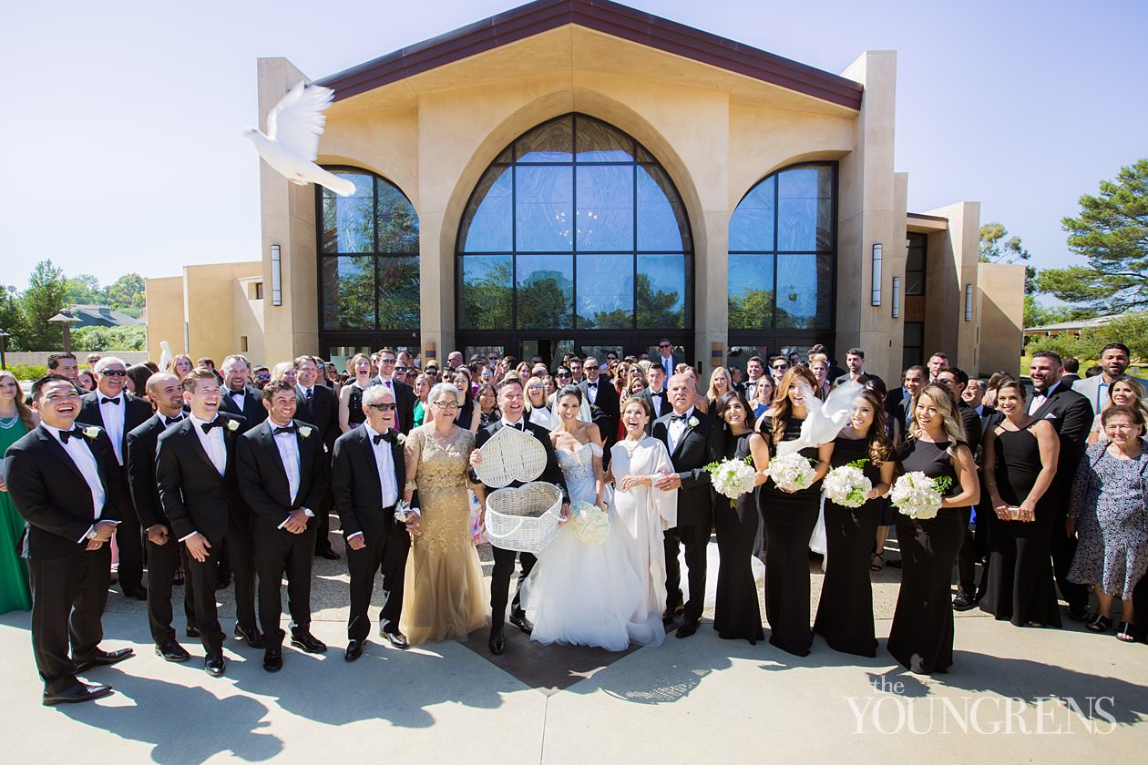 rancho palos verdes wedding, terranea resort wedding, st john fisher catholic church wedding ceremony, trump national golf club wedding, black tie wedding at trump national, black tie wedding in rancho palos verdes, engaged events wedding, wedding with jenna of engaged events