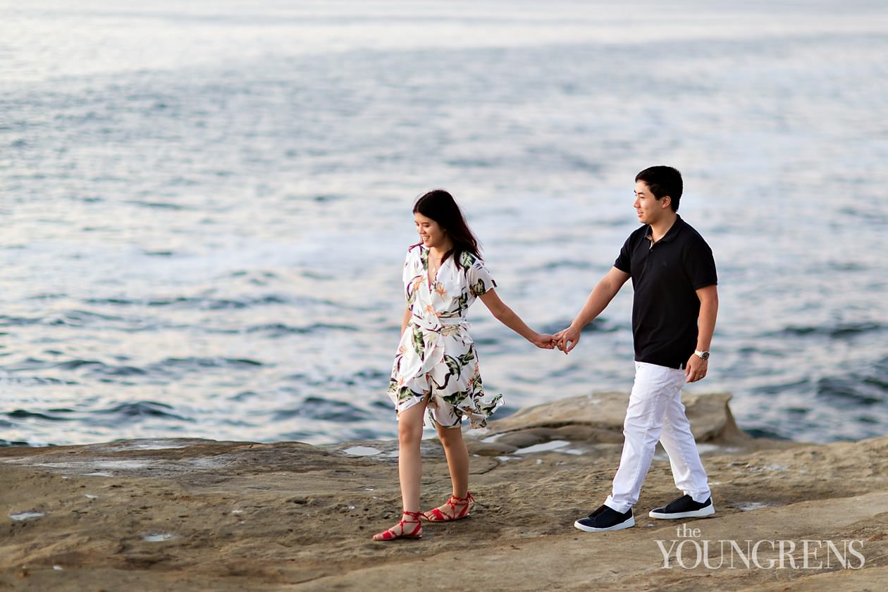 la jolla engagement, la valencia engagement, downtown la jolla engagement, la jolla cove engagement, classic engagement, outdoor engagement