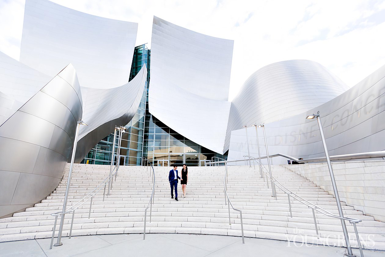 Walt Disney Concert Hall Engagement, disney concert hall engagement, downtown los angeles engagement, dtla engagement, los angeles engagement, classic city engagement, downtown engagement