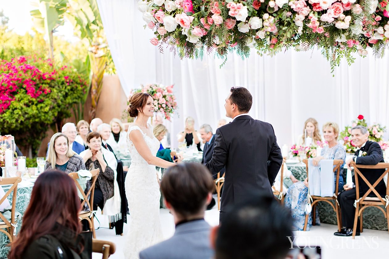 rancho valencia wedding, wedding at rancho valencia, sunrise terrace reception, susanne duffy wedding, crown weddings, annette gomez wedding, flowers by annette wedding, croquet lawn ceremony, liguori wedding
