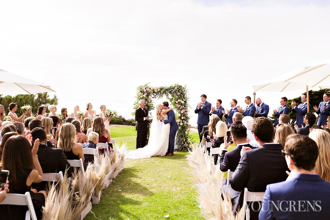 lauberge del mar wedding, beach wedding, seagrove park ceremony, timeless event planning wedding, san diego wedding, del mar wedding, bride and groom beach portraits