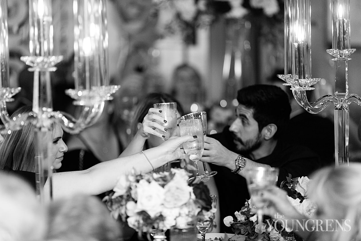 rancho valencia wedding, new years eve wedding, black tie new years eve wedding, crown weddings wedding, splendid sentiments wedding, candlelight ceremony, nighttime ceremony, ceremony on the sunrise terrace, ceremony at night