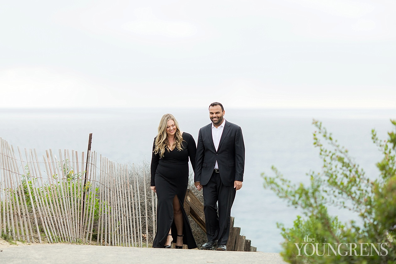 crystal cove engagement, newport coast engagement, laguna beach engagement, engagement session at crystal cove, black tie engagement session in newport beach, newport beach engagement, orange county beach engagement, reef point engagement session