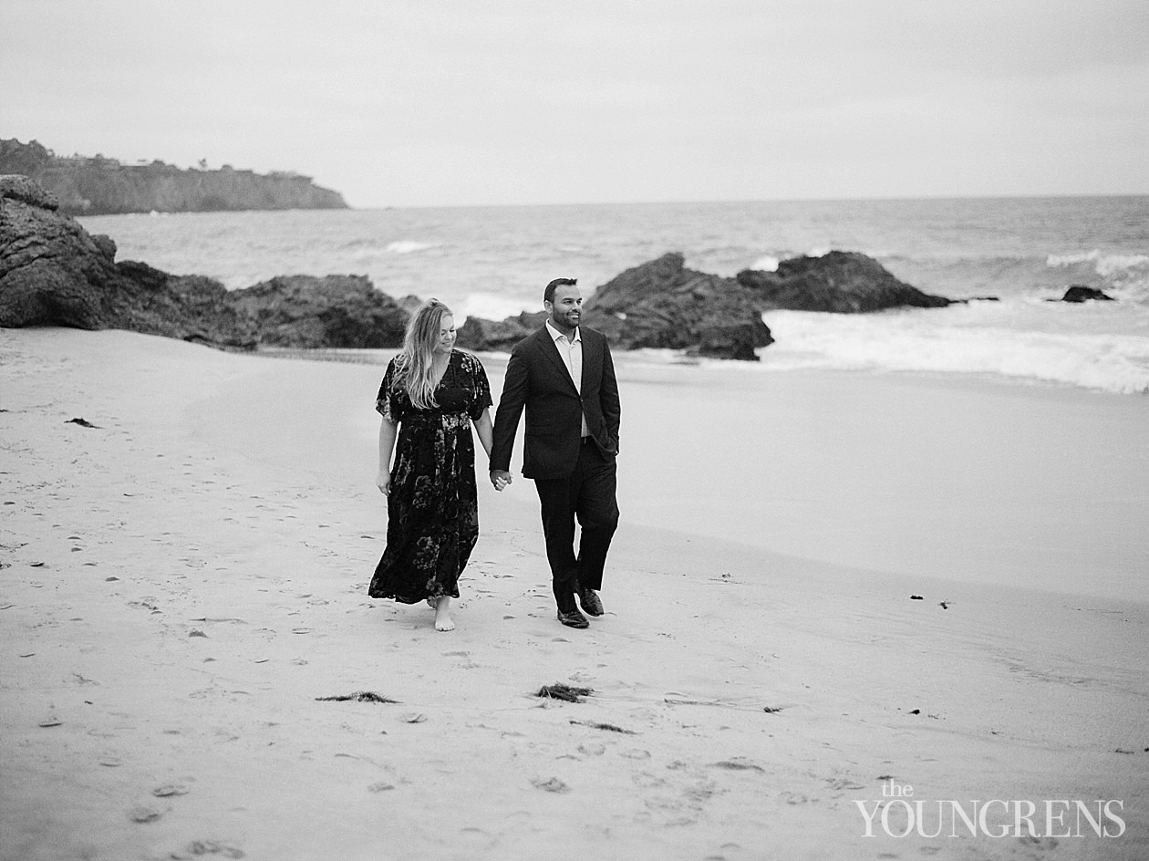 crystal cove engaement session, film engagement session, newport beach film engagement session, orange county film engagement session, engagement session on film, film photographer in orange county, crystal cove engagement session on film
