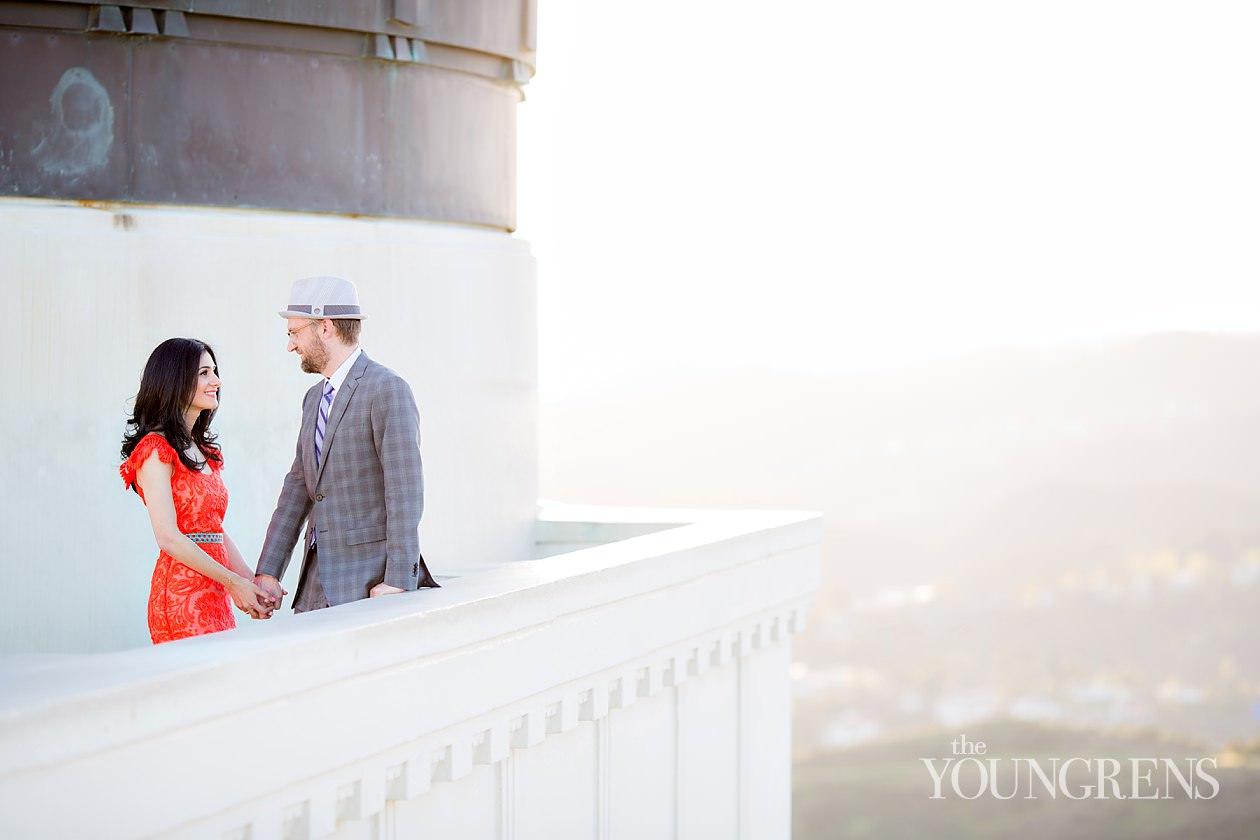 griffith observatory engagement, los angeles engagement, iconic los angeles engagement, vintage fashion engagement, annette vartanian engagement, a vintage splendour engagement