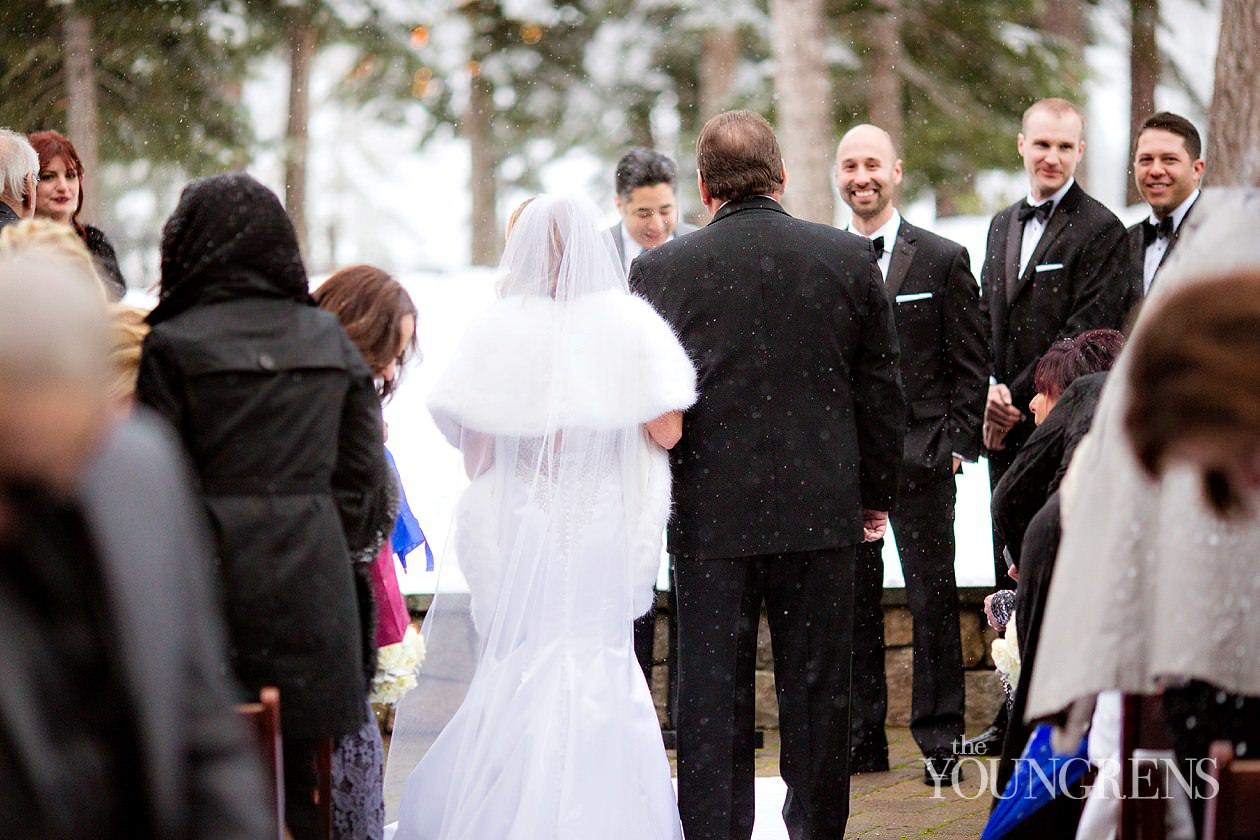 lake tahoe wedding, ritz-carlton lake tahoe wedding, northstar wedding, mountain wedding, black tie winter wedding, snowy wedding, winter ceremony, elegant winter wedding