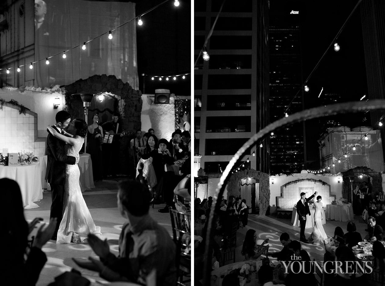 downtown la wedding, oviatt penthouse wedding, la athletic club wedding, film wedding photography, contax 645 wedding photography, gatsby wedding, pink wedding, watercolor wedding, rooftop wedding, city wedding, grand park wedding, los angeles wedding