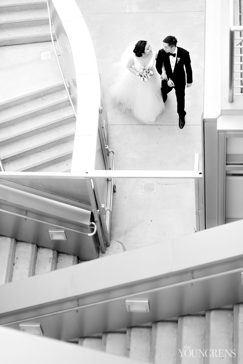 downtown la wedding, cafe pinot wedding, disney concert hall wedding, modern wedding, biltmore los angeles wedding, maguire gardens wedding, la library wedding, film wedding photography, contax 645 wedding photography, watercolor wedding, city wedding, black tie wedding, los angeles wedding
