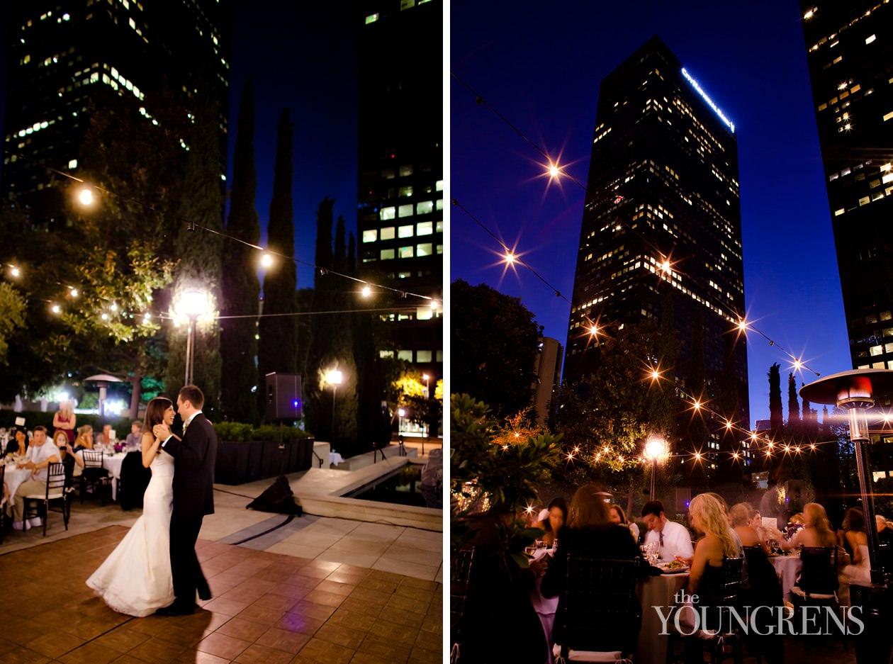 cafe pinot wedding, los angeles wedding, downtown los angeles wedding, la central library wedding, urban wedding, maguire gardens ceremony, library wedding
