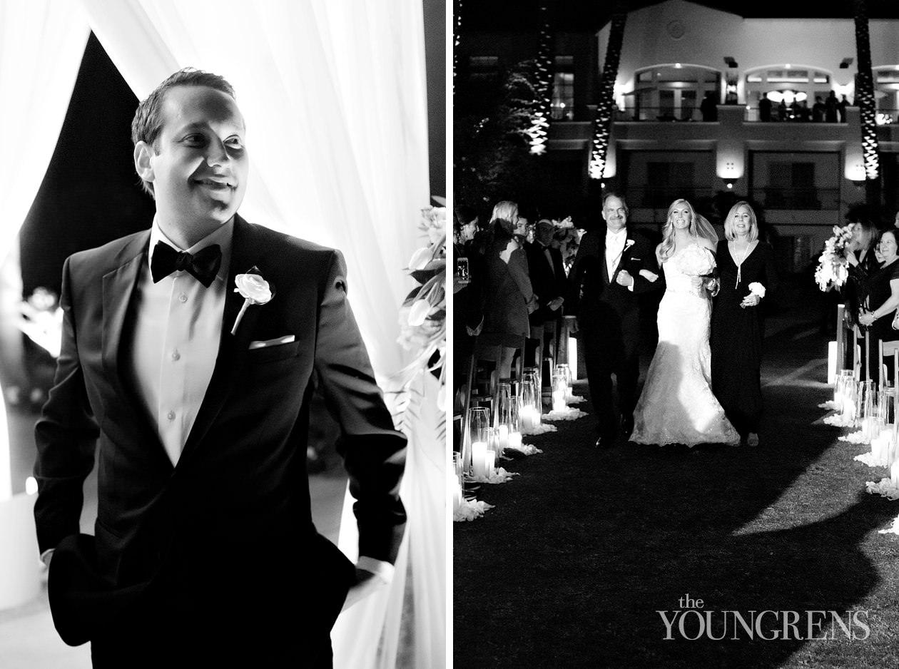park hyatt aviara wedding, new years eve wedding, nye wedding, black tie wedding, elegant wedding, crown weddings and event, susanne duffy wedding, park hyatt wedding, nighttime wedding, nighttime ceremony