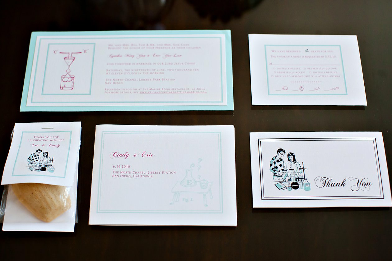 Be Inspired Science Themed Wedding Invitations The