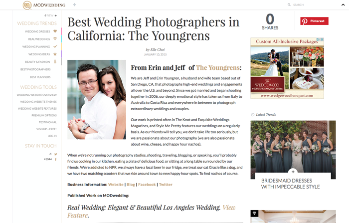 The Youngrens Featured on MODWedding