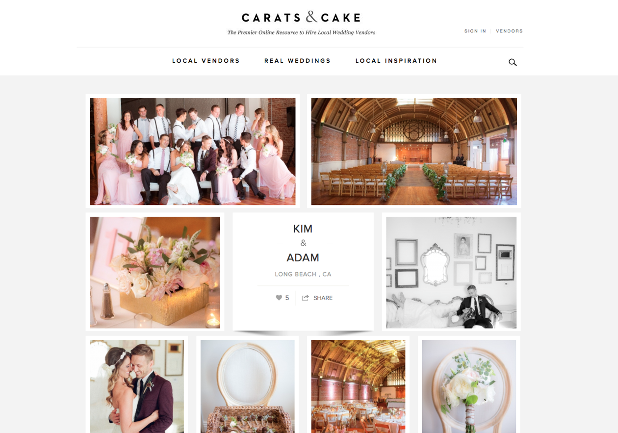 Featured Carats & Cake Kim and Adam's Rustic Pink Wedding   The ...